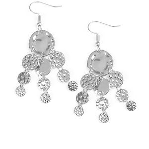 Delicate Silver Dangly Earrings NWT